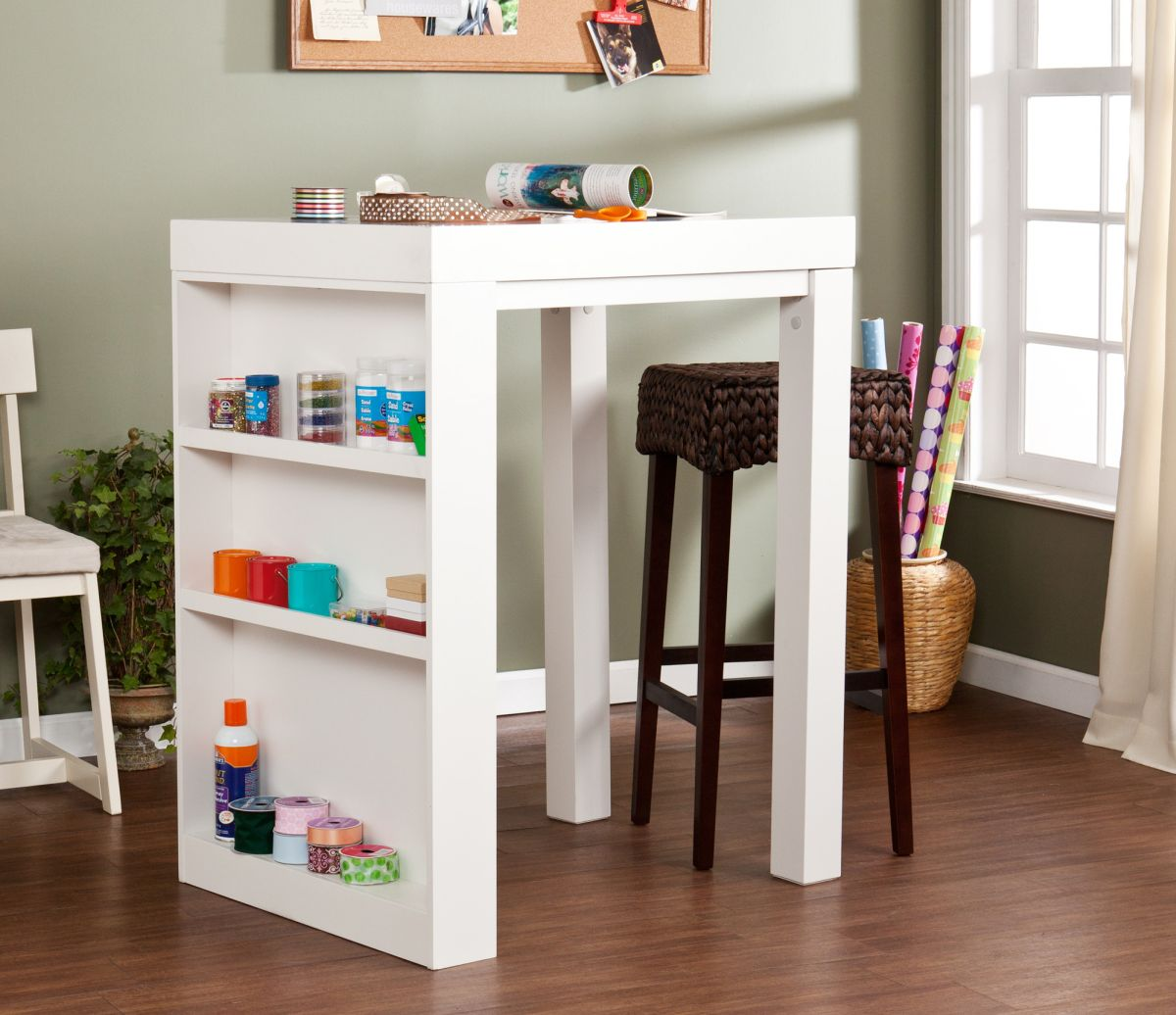 Picture of: Small Craft Table with Storage