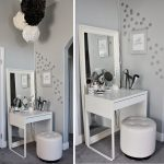 Small Makeup Vanity Table With Lighted Mirror