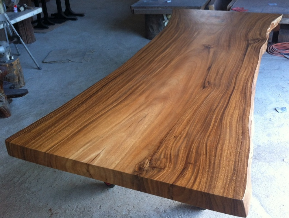 Image of: Small Wood Slab Tables