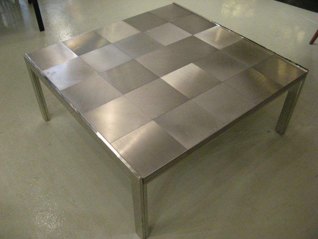 Picture of: stainless steel coffee table set