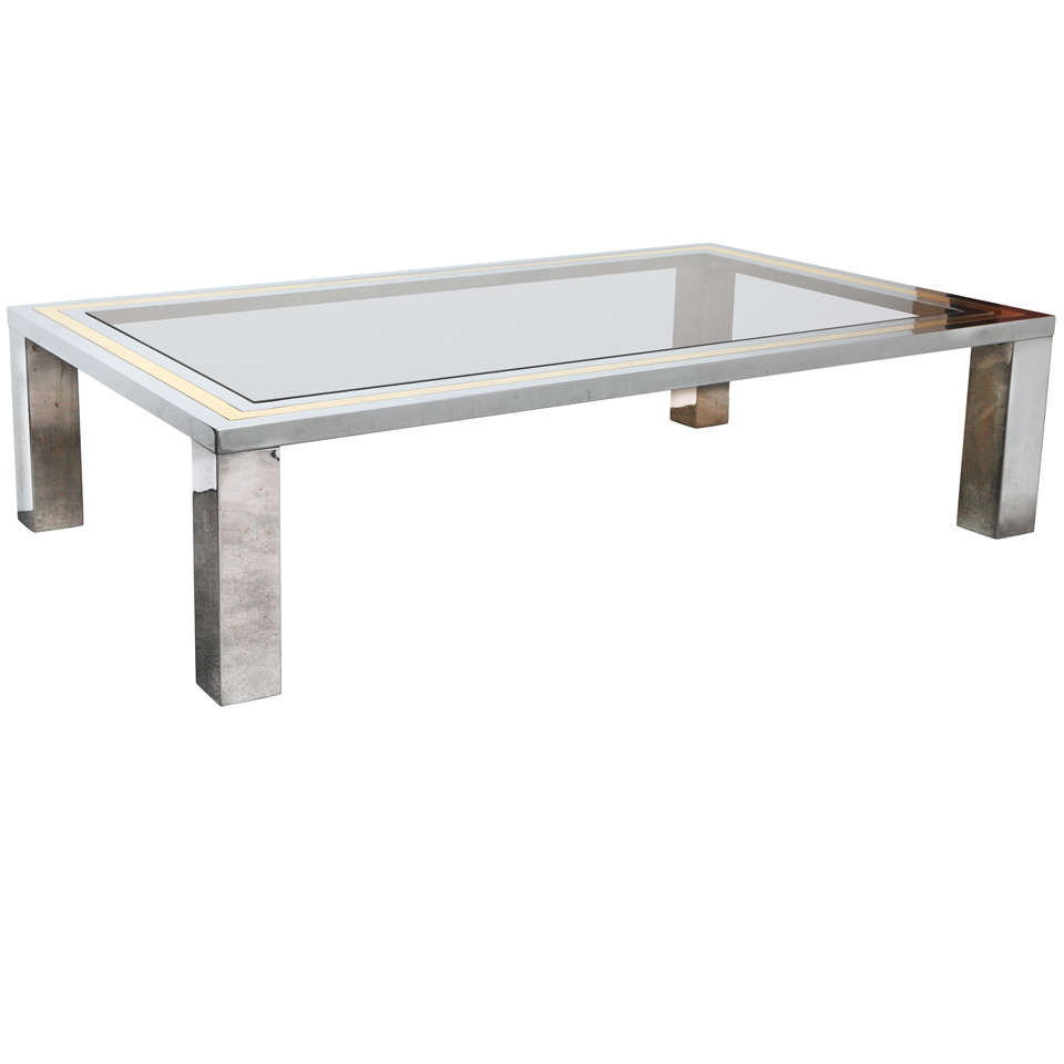 Picture of: Style Chrome and Glass Coffee Table