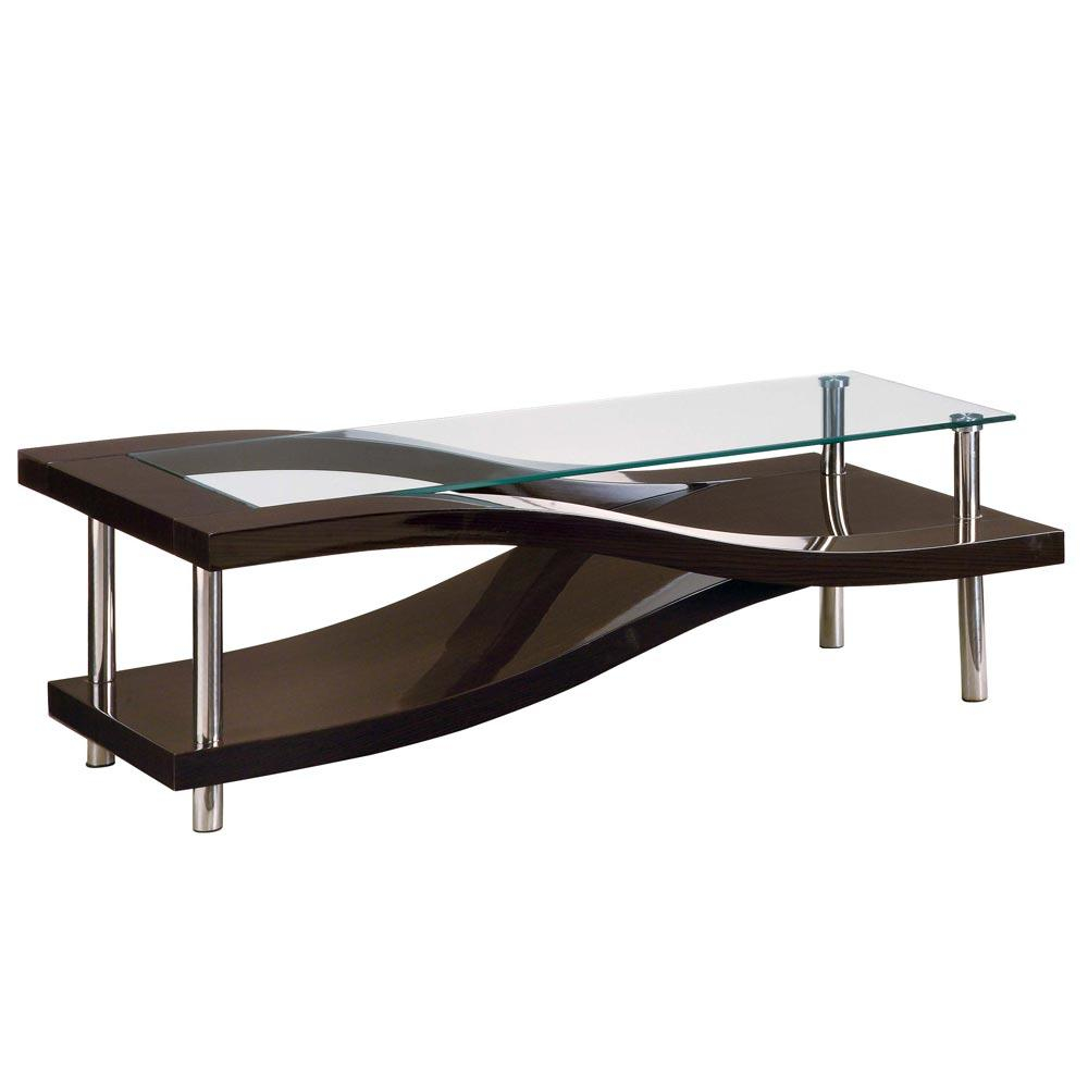 Style Elegant Square Coffee Table Wood