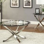 Stylish Oval Glass Coffee Table