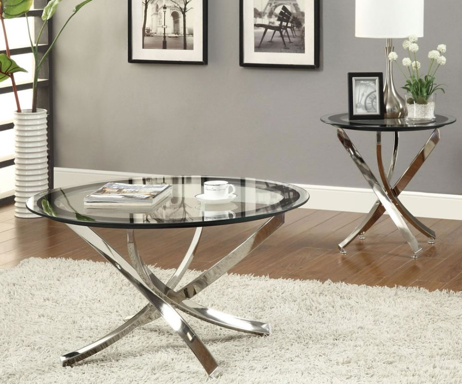 Image of: Stylish Oval Glass Coffee Table