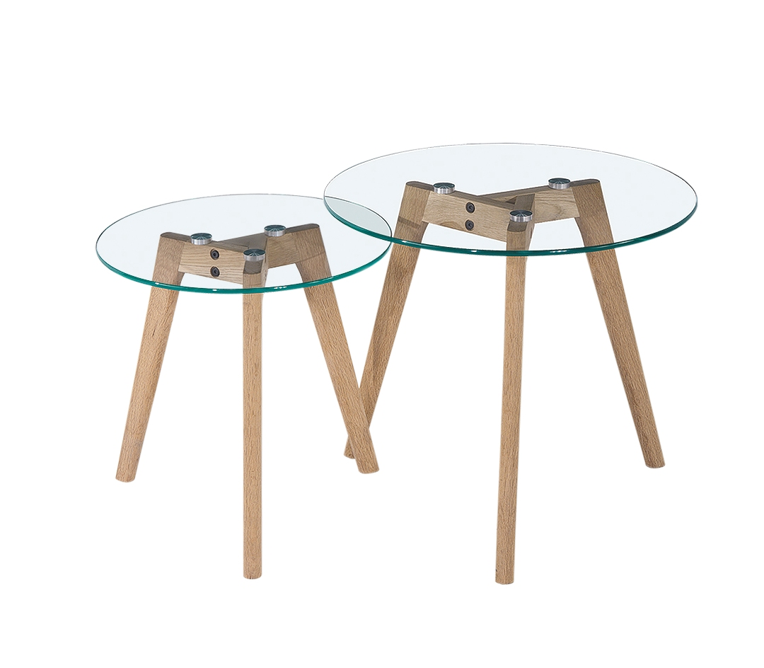 Image of: Stylish Round Nesting Table