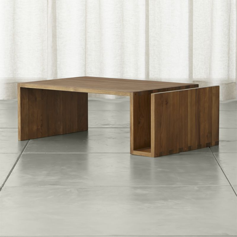 Image of: stylish teak coffee table