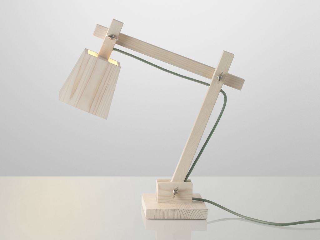 Image of: Stylish Wood Table Lamp