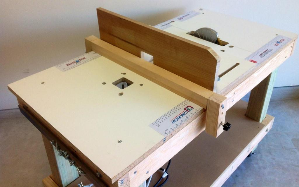 Image of: Table Saw Router Bench Plans
