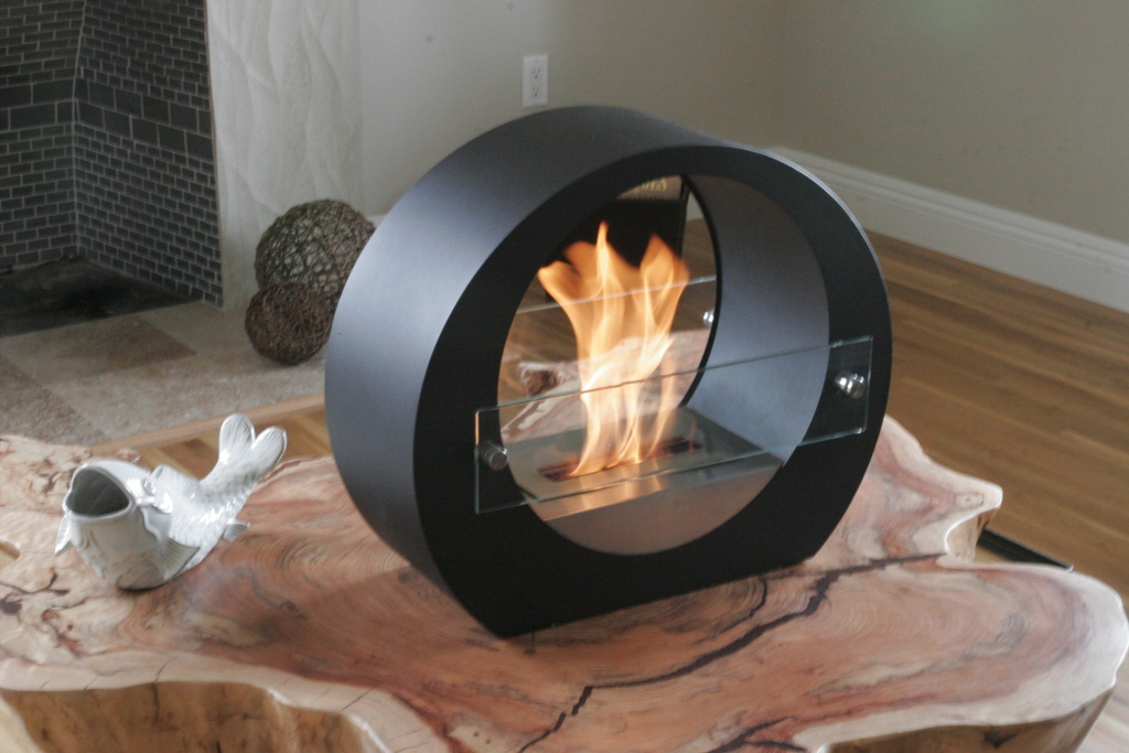 Image of: Tabletop Fireplace Unique