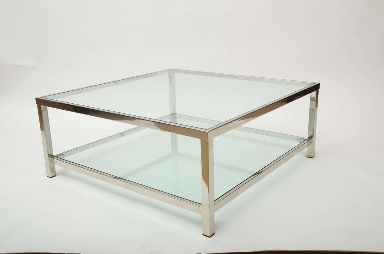 Picture of: Tips Chrome and Glass Coffee Table