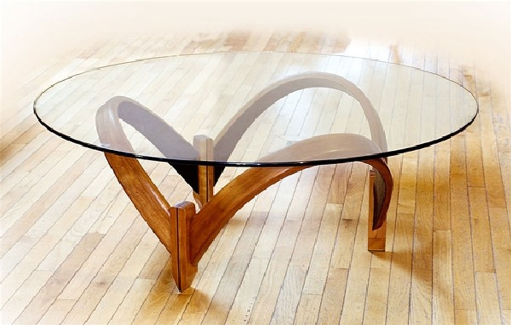 Image of: Top Glass Coffee Table Base Ideas