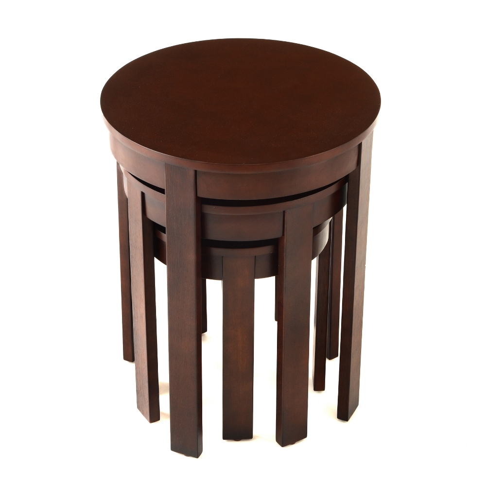Image of: Top Round Nesting Tables
