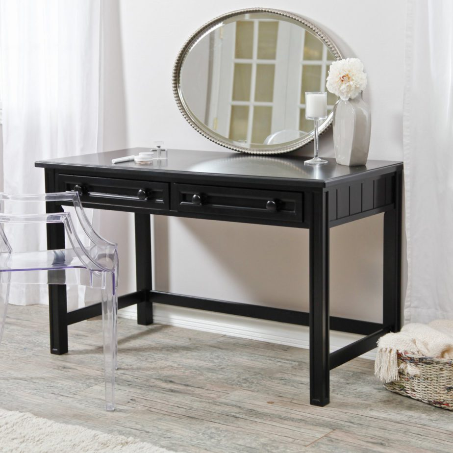 Image of: Vanity Ideas for Small Bedroom Black