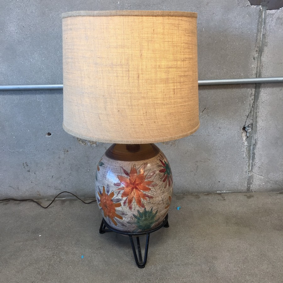 Vintage Wrought Iron Table Lamps