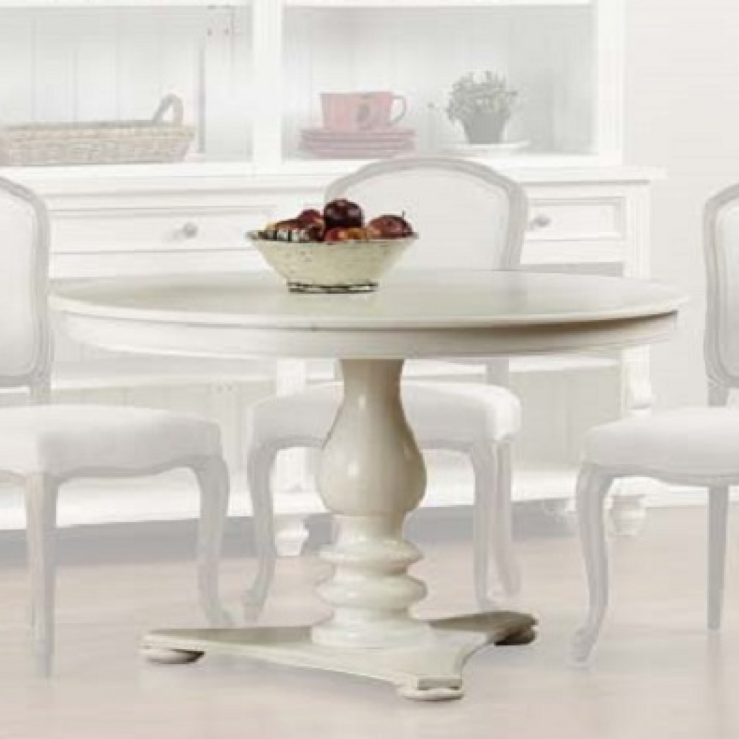 Image of: White Pedestal Dining Table Ideas