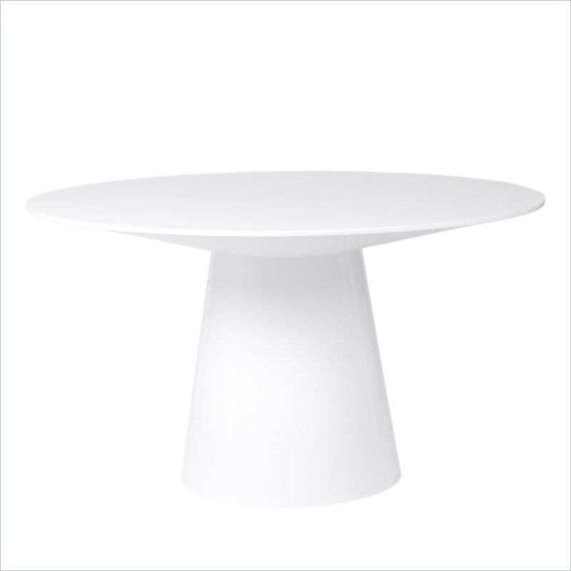 Image of: White Pedestal Dining Table Modern