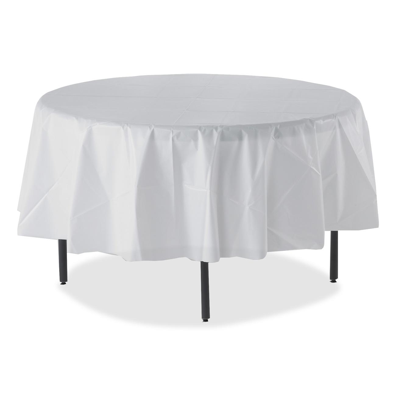 Image of: White patio table cover