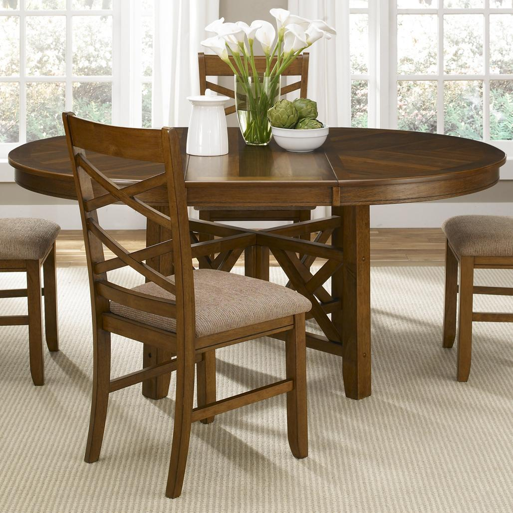 Image of: Wooden Oval Dining Table with Leaf