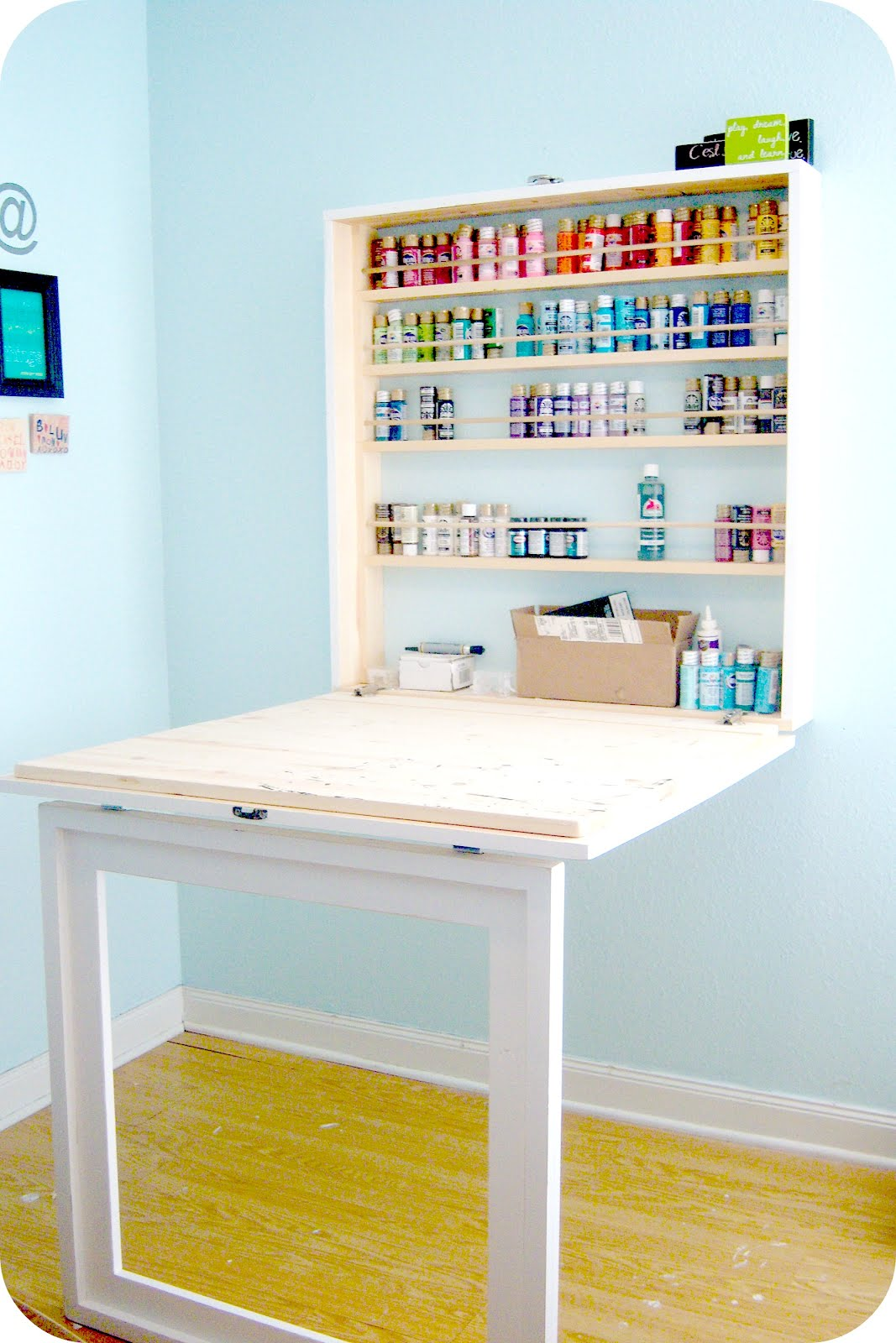 Picture of: Work Craft Table with Storage
