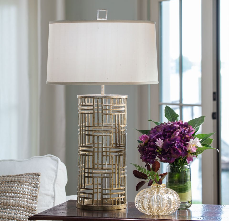 Image of: Wrought Iron Table Lamps Design