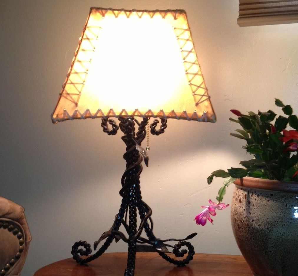 Picture of: Wrought Iron Table Lamps Living Room