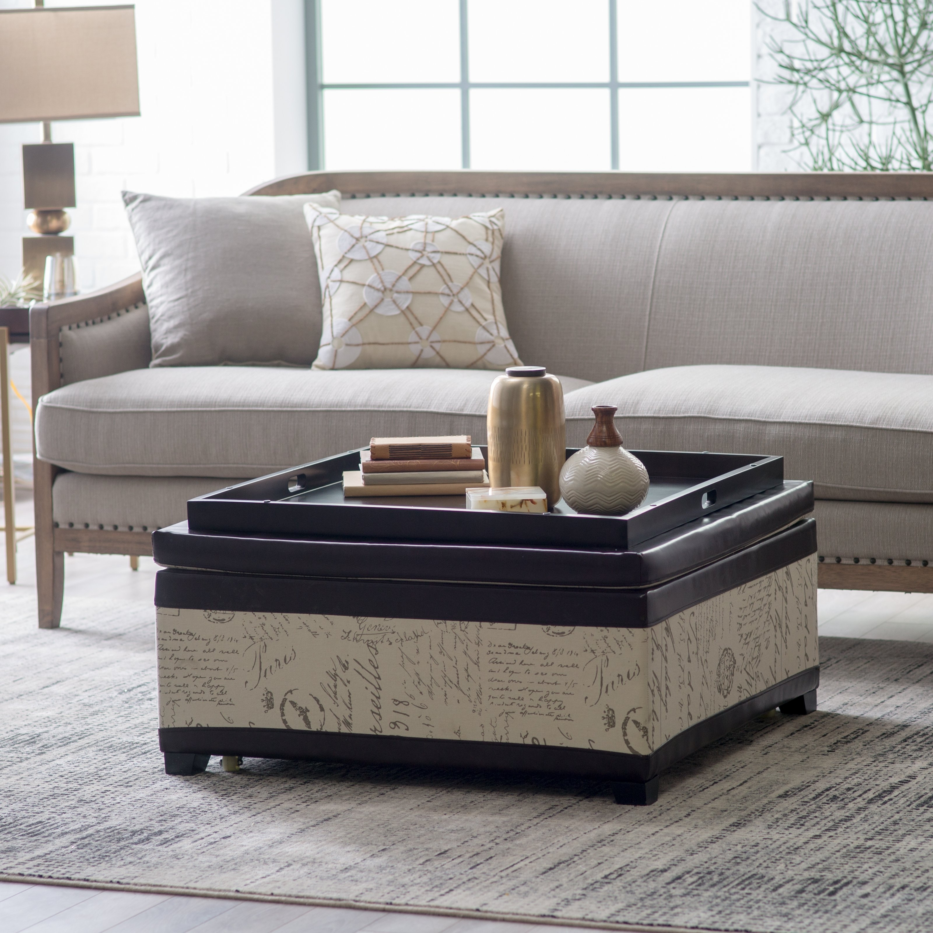 Picture of: Cool Ottoman Coffee Table