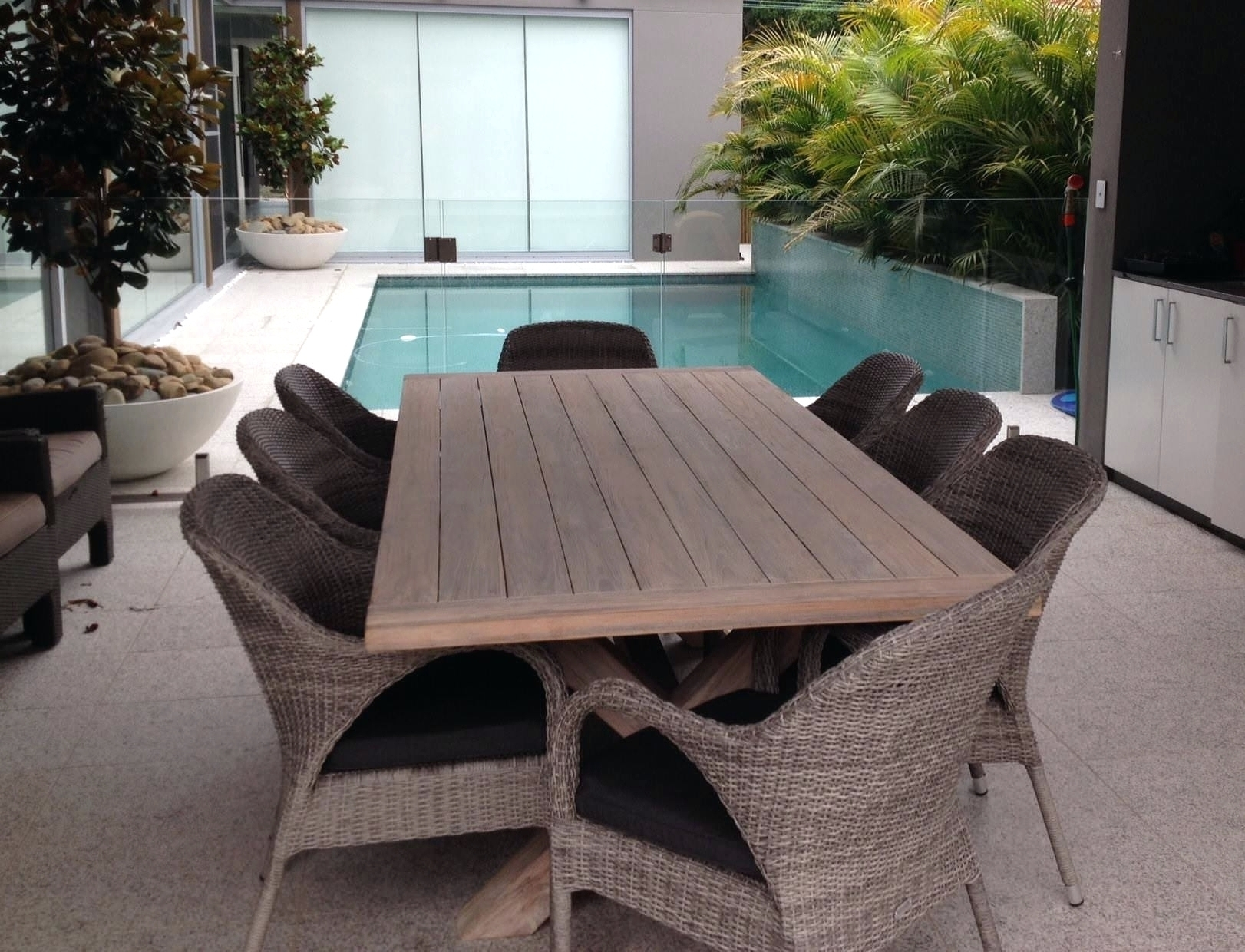 Dining Tables Magnificent L Outdoor Teak Dining Tables