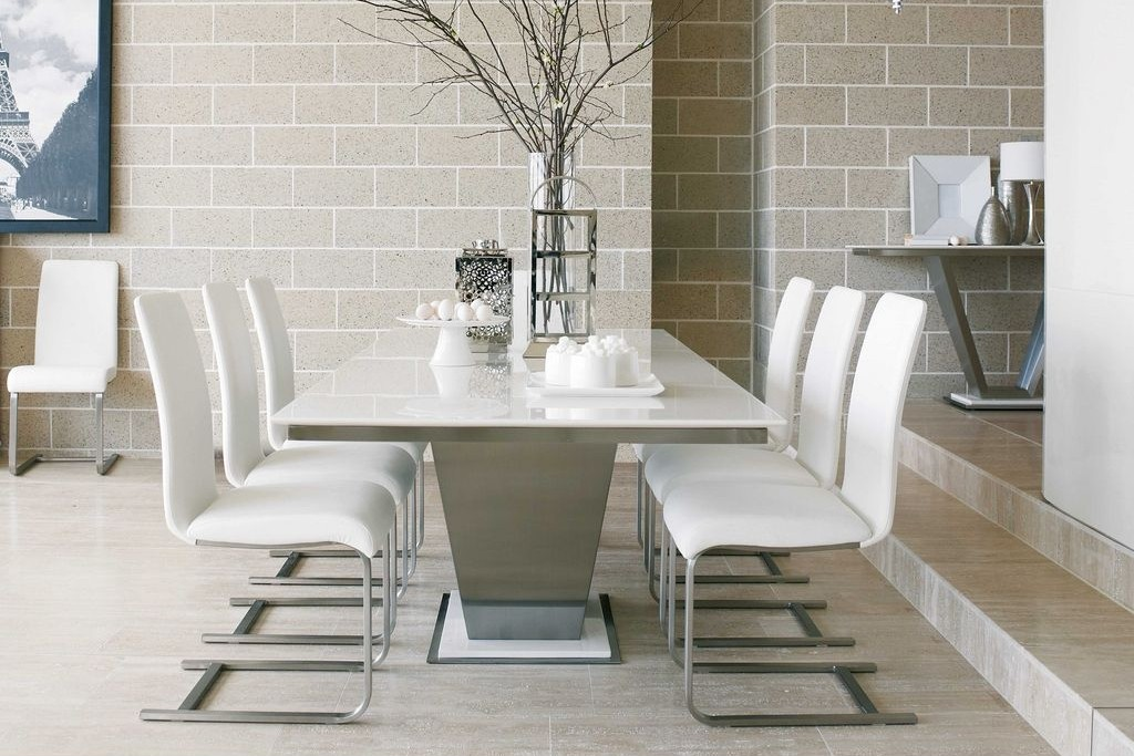 Image of: modern marble top dining table