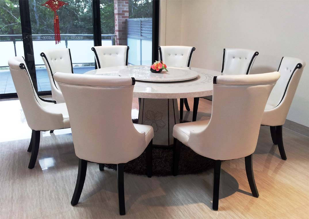 Image of: new marble top dining table