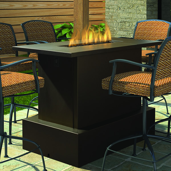 Image of: small outdoor fire pit table