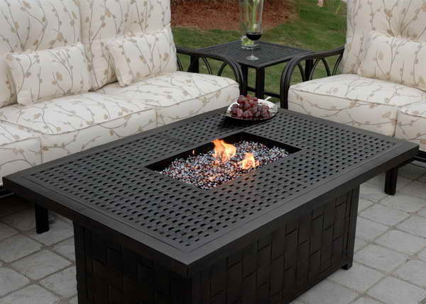 Image of: unusual outdoor fire pit table